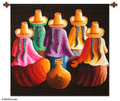 Hand Made Peruvian Cultural Wall Hanging Tapestry
