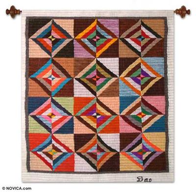 Geometric Wool Tapestry Wall Hanging