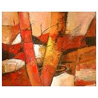 'Abstract V-1' - Abstract Painting from Peru