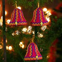 Ornaments Holiday Bells set of 3 Peru