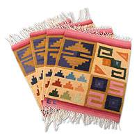 Wool placemats Inca Calendar set of 4 Peru