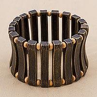 Cuff bracelet, 'Bronze Goddess' (Peru)