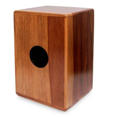 Wood cajon drum, 'Reverberations' - Authentic Peruvian Wood Cajon Drum