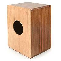 Wood mini-cajon drum, 'Harvest Beat' - Hand Crafted Wood Minicajon Drum Peruvian Percussion