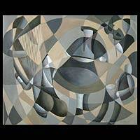 'Dancer' (2001) - Cubist Oil Painting