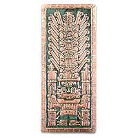 Copper wall adornment, 'Smiling God' (large) - Handcrafted Archaeological Bronze Copper Wall Art (Large)