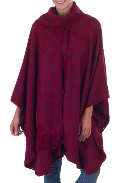 Handcrafted Alpaca Wool Blend Ruana Cloak