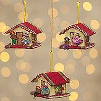 Ornaments, 'Our House' (set of 3) - Ornaments (Set of 3)