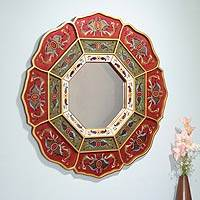 Mirror, 'Octagon Flower' - Mirror
