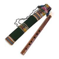 Wood quena flute, 'Song of the Andes' - Fair Trade Peruvian Quena Flute with Case