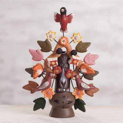 Ceramic candleholder, Tree of Life