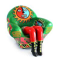 Ceramic statuette Wari Legged Sofa Peru