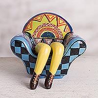 Ceramic statuette Chavin Legged Sofa Peru
