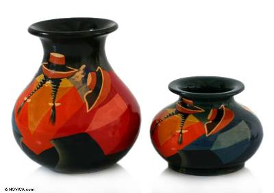 Ceramic vases (Pair)