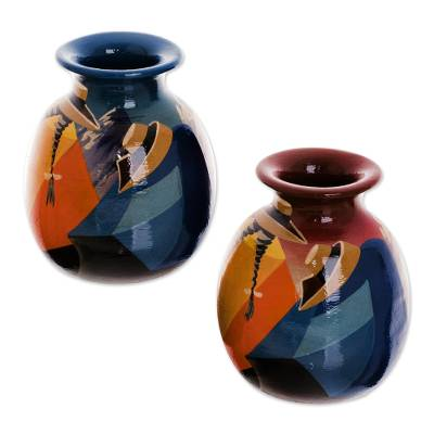 Cuzco Ceramic Vases (Pair)