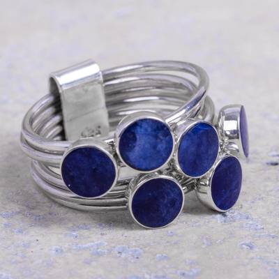 silver female rings and things - Unique Sterling Silver and Sodalite Ring