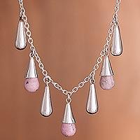 Rhodochrosite pendant necklace,