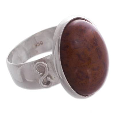 Obsidian cocktail ring