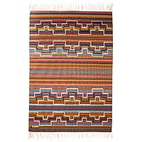 Wool rug Rainbow Hills 4x6 Peru