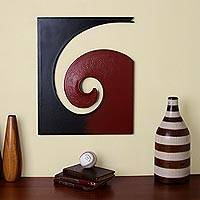 Steel and cotton wall art,