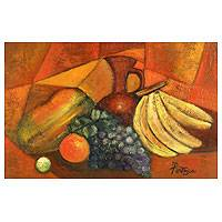 'Still Life with Ceramics' - Still Life Cubist Painting