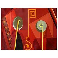 'Couple' (2007) - Abstract Acrylic Painting