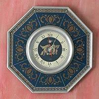 Painted glass clock, 'Elegance' - Painted glass clock