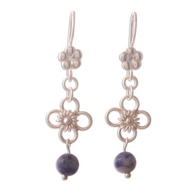 Sodalite dangle earrings