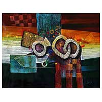 'Love' - Original Painting Peru Abstract Art