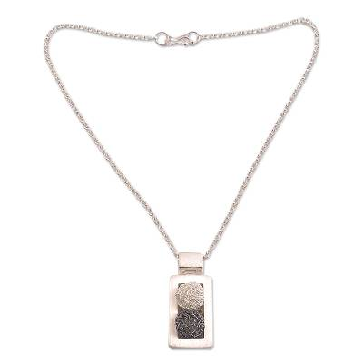 Hand Made Modern Sterling Silver Pendant Necklace