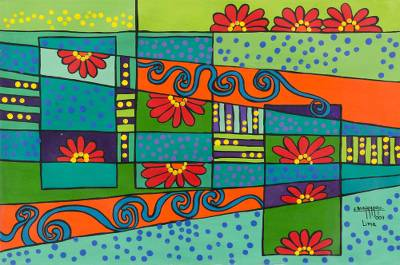 Floral Abstract Painting (2007)