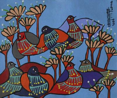 Original Floral Folk Art Painting