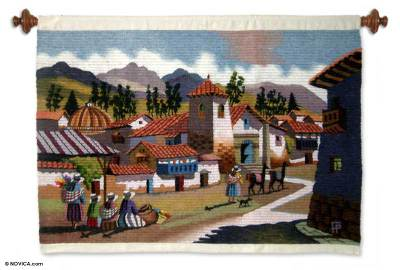 Handcrafted Wool Tapestry