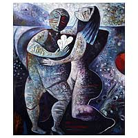 'Dancing with Love' (2008) - Original Expressionist Painting (2008)