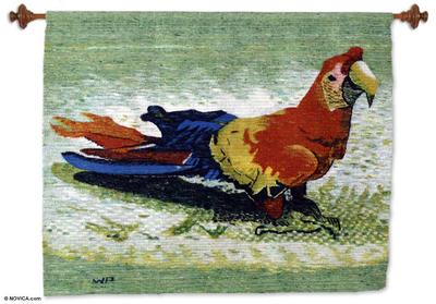 Unique Wool Bird Handloomed Art Tapestry