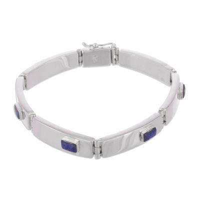Lapis lazuli wristband bracelet
