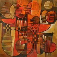 'Abundance V' (2008) - Still Life Expressionist Painting (2008)