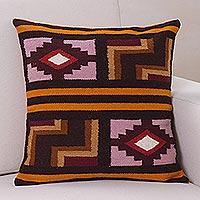Wool cushion cover Ancient Geometry Peru