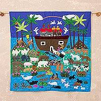 Applique wall hanging, 'Noah and His Ark'