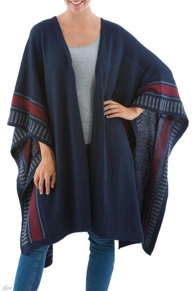 Alpaca Wool Ruana Cloak