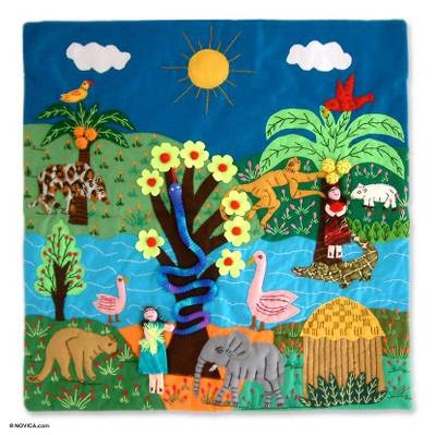 Handcrafted Folk Art Applique Wall Hanging