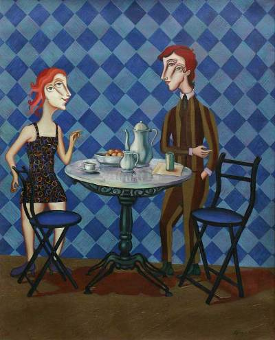 'Summer Breakfast' - Surrealist Painting Peru Surrealism Art