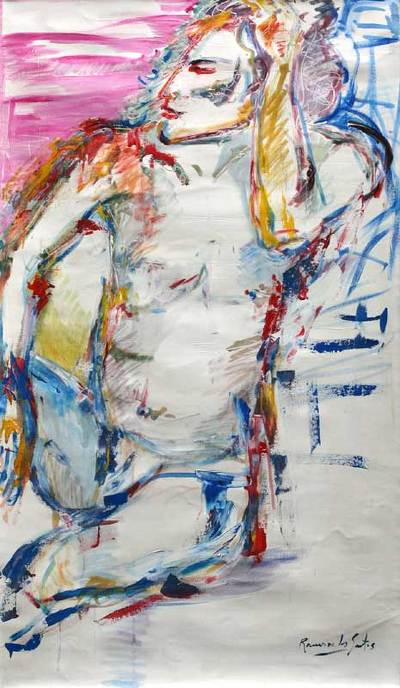 'Portrait of Man' (2008) - Original Painting Peru Abstract Art (2008)