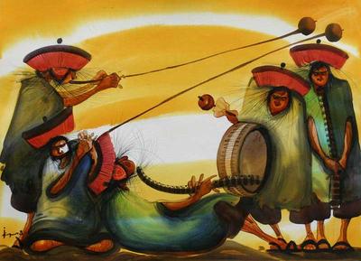 Original Painting Peru Art