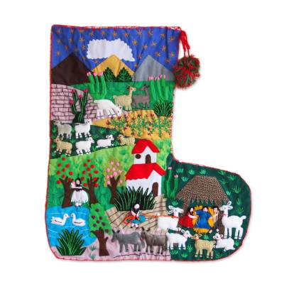 Applique Christmas stocking