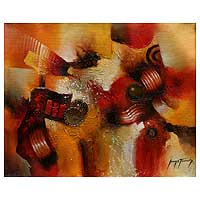 'Integration' - Abstract Original Oil Painting Peru Fine Art