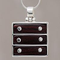 Cedar pendant necklace,