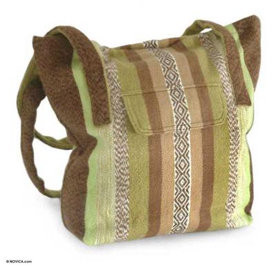 Alpaca Wool Tote Handbag from Peru