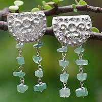 Aventurine chandelier earrings,