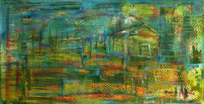 'Landscape of a House Lost Under the Sun' (2008) - Landscape Abstract Painting (2008)